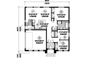 European Style House Plan - 3 Beds 1 Baths 1480 Sq/Ft Plan #25-4336