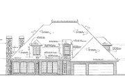 European Style House Plan - 4 Beds 3.5 Baths 3168 Sq/Ft Plan #310-432 Exterior - Rear Elevation