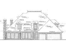 European Exterior - Rear Elevation Plan #310-432