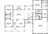 Craftsman Style House Plan - 3 Beds 2.5 Baths 2182 Sq/Ft Plan #1071-1 Floor Plan - Main Floor Plan