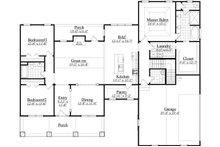 Craftsman Floor Plan - Main Floor Plan Plan #1071-1