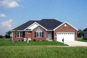 Ranch Exterior - Front Elevation Plan #412-107