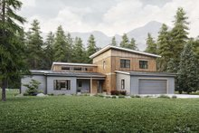 Dream House Plan - Contemporary Exterior - Front Elevation Plan #924-13