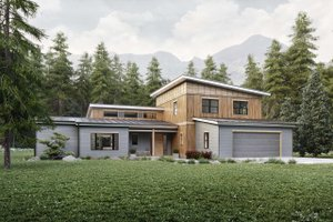 Contemporary Exterior - Front Elevation Plan #924-13