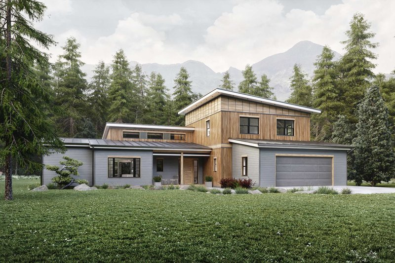 House Design - Contemporary Exterior - Front Elevation Plan #924-13