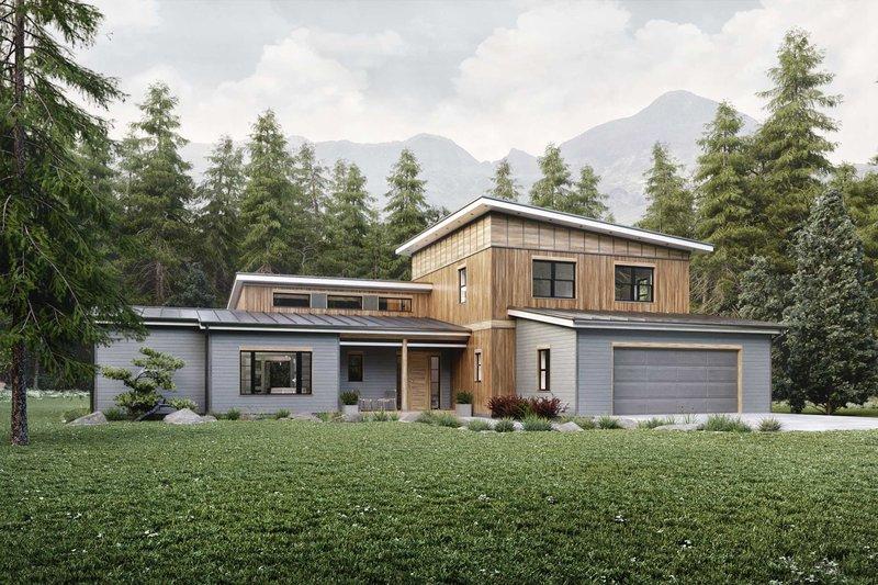 House Plan Design - Contemporary Exterior - Front Elevation Plan #924-13