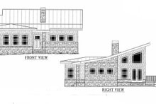 Modern Exterior - Front Elevation Plan #437-55