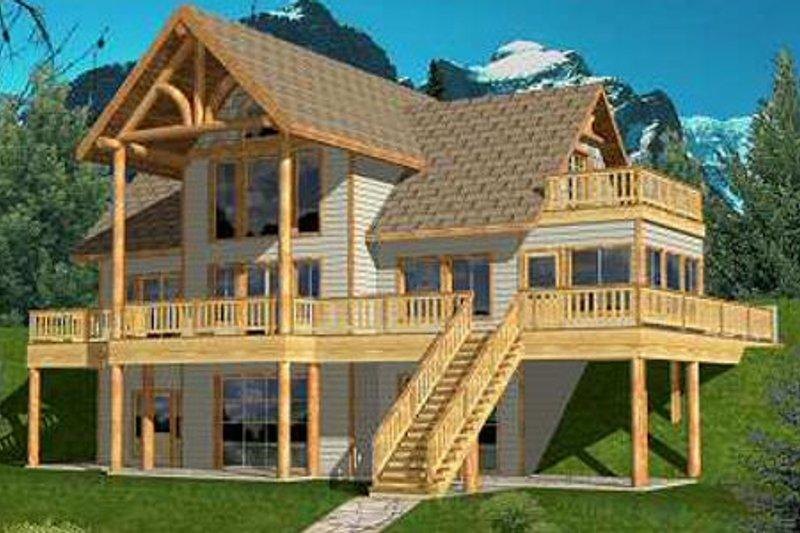 Exterior - Front Elevation Plan #117-459 - Houseplans.com