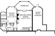 Traditional Style House Plan - 5 Beds 4.5 Baths 3806 Sq/Ft Plan #453-32 Floor Plan - Lower Floor Plan