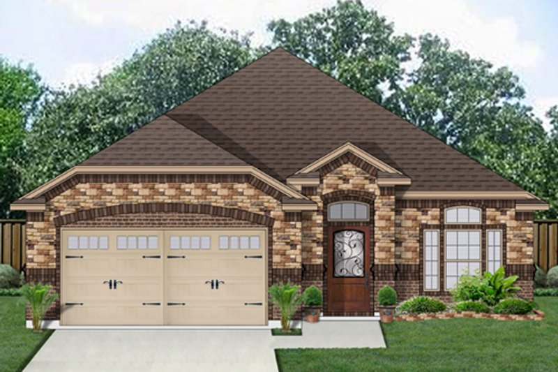 Traditional Exterior - Front Elevation Plan #84-551 - Houseplans.com