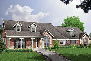 Traditional Exterior - Front Elevation Plan #40-388