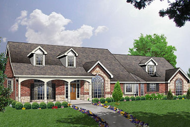 Traditional Exterior - Front Elevation Plan #40-388 - Houseplans.com