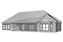 Home Plan Design - Traditional Exterior - Rear Elevation Plan #63-360