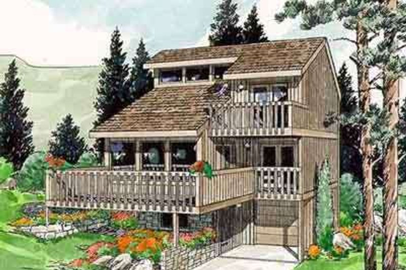 Contemporary Style House Plan - 3 Beds 2 Baths 1660 Sq/Ft Plan #116-102 Exterior - Front Elevation