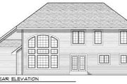 Traditional Style House Plan - 4 Beds 2.5 Baths 2440 Sq/Ft Plan #70-843 Exterior - Rear Elevation