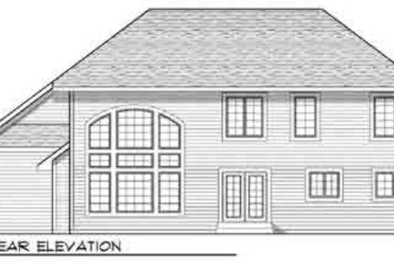 Traditional Exterior - Rear Elevation Plan #70-843 - Houseplans.com