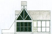 Cottage Style House Plan - 1 Beds 1 Baths 213 Sq/Ft Plan #510-1 Exterior - Other Elevation