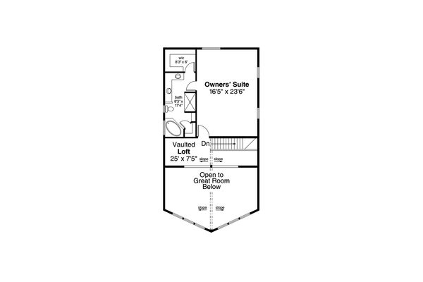 Cottage Floor Plan - Upper Floor Plan Plan #124-1130