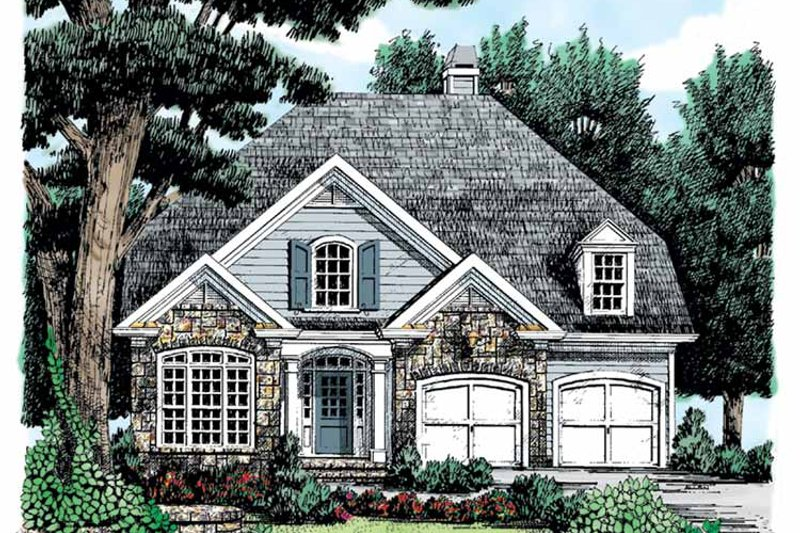 Country Exterior - Front Elevation Plan #927-684