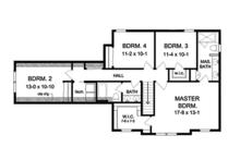 Country Floor Plan - Upper Floor Plan Plan #1010-124