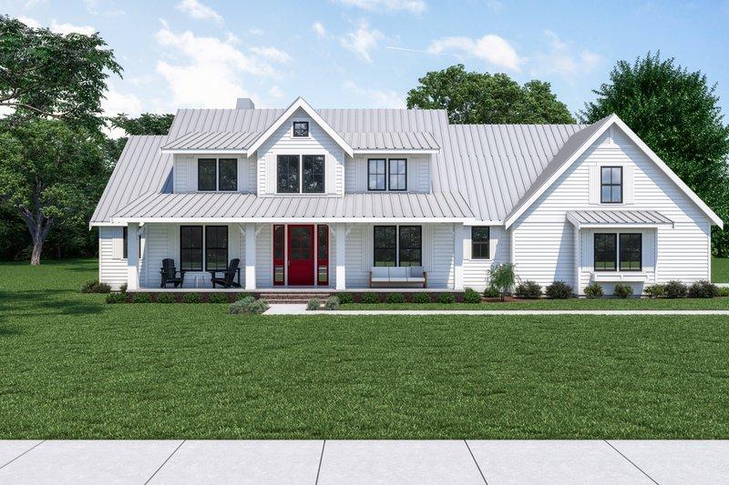 House Plan Design - Farmhouse Exterior - Front Elevation Plan #1070-19