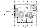 Southern Style House Plan - 3 Beds 2.5 Baths 2842 Sq/Ft Plan #417-341 Floor Plan - Main Floor Plan