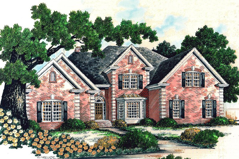 Traditional Exterior - Front Elevation Plan #30-342