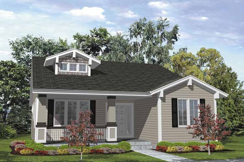Craftsman Exterior - Front Elevation Plan #320-838