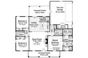 Country Style House Plan - 3 Beds 2 Baths 1636 Sq/Ft Plan #21-392