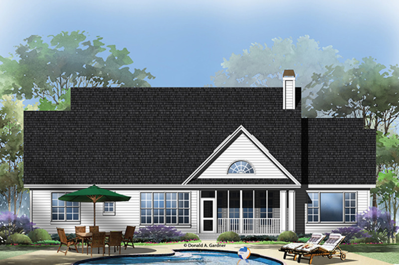 Traditional Exterior - Rear Elevation Plan #929-963 - Houseplans.com