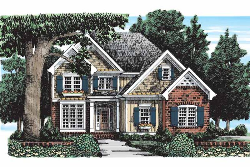Country Exterior - Front Elevation Plan #927-288