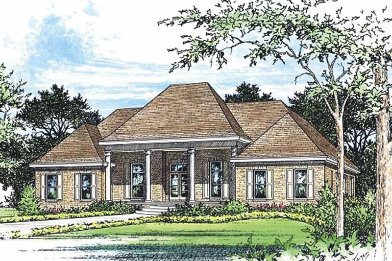 Classical Exterior - Front Elevation Plan #15-379 - Houseplans.com