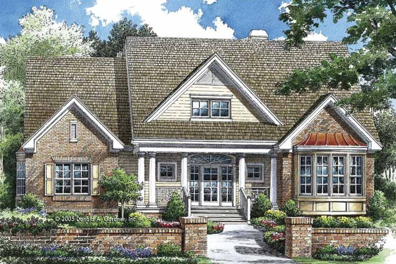 Traditional Exterior - Front Elevation Plan #929-769 - Houseplans.com