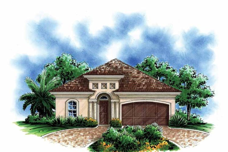 Mediterranean Exterior - Front Elevation Plan #1017-112 - Houseplans.com
