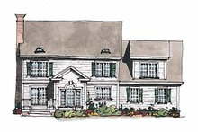 House Plan Design - Classical Exterior - Rear Elevation Plan #429-184