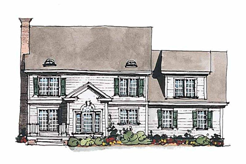 Classical Exterior - Rear Elevation Plan #429-184 - Houseplans.com
