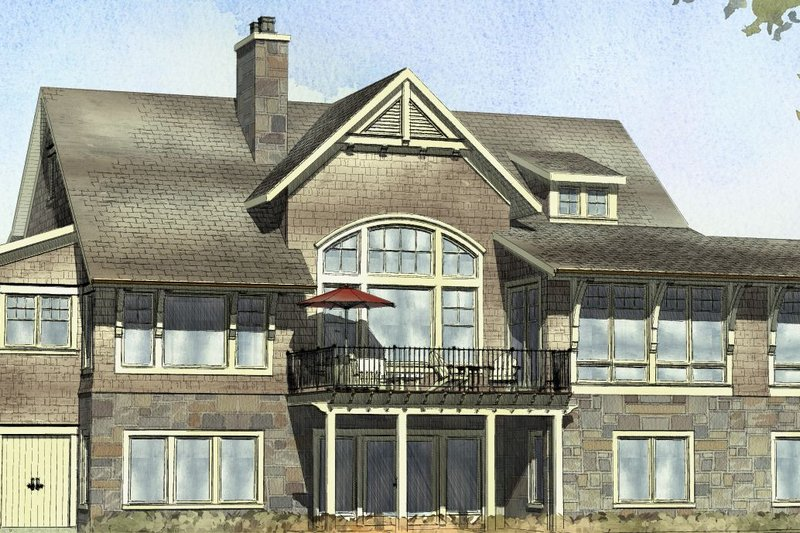 Country Style House Plan - 4 Beds 2.5 Baths 3999 Sq/Ft Plan #901-105 Exterior - Front Elevation