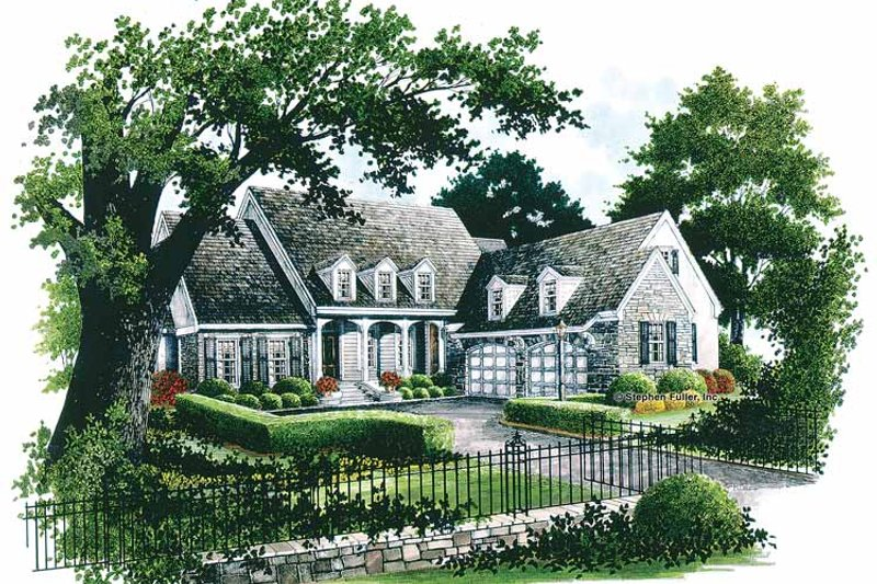 Country Exterior - Front Elevation Plan #429-331