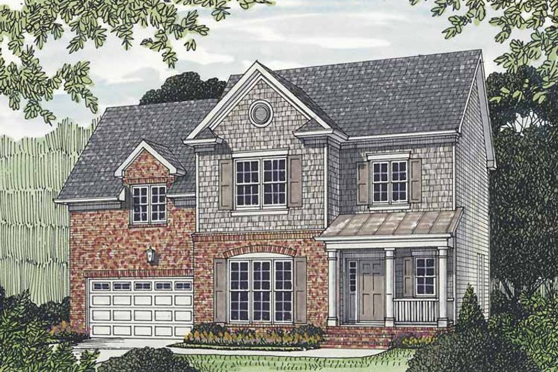 Traditional Exterior - Front Elevation Plan #453-521 - Houseplans.com