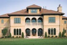 Architectural House Design - Mediterranean Exterior - Rear Elevation Plan #453-604