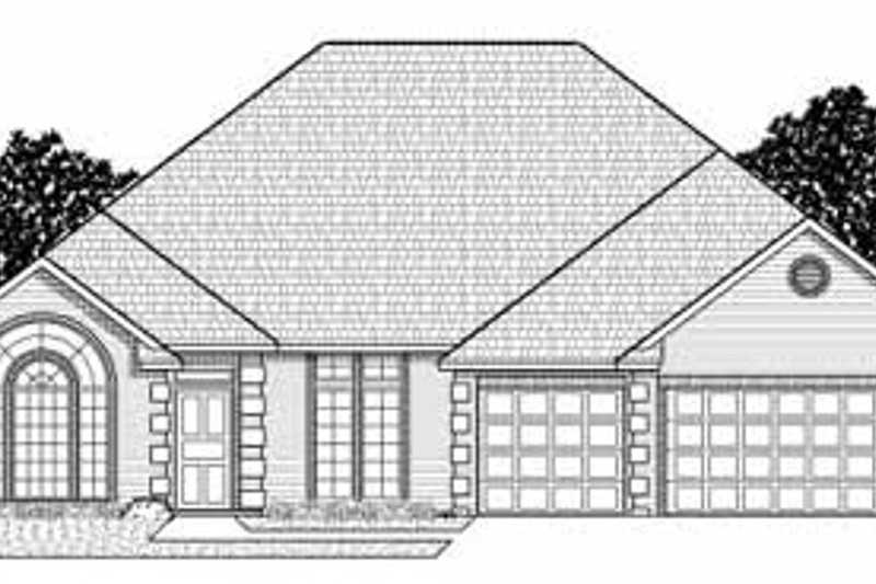 Traditional Style House Plan - 4 Beds 3 Baths 2785 Sq/Ft Plan #65-106 Exterior - Front Elevation
