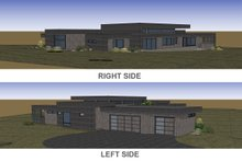 Architectural House Design - Right & Left Renderings