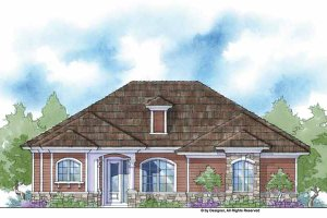 Home Plan - Country Exterior - Front Elevation Plan #938-13