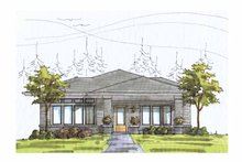 Prairie Exterior - Front Elevation Plan #895-70