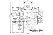 Craftsman Style House Plan - 3 Beds 2.5 Baths 1971 Sq/Ft Plan #51-552 Floor Plan - Main Floor