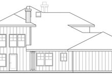 Home Plan - Craftsman Exterior - Rear Elevation Plan #124-459