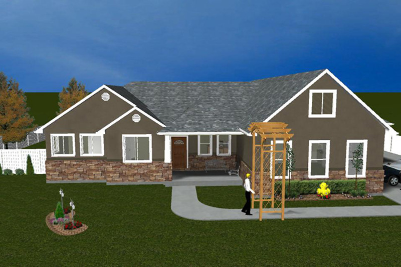 Ranch Exterior - Front Elevation Plan #1060-2 - Houseplans.com