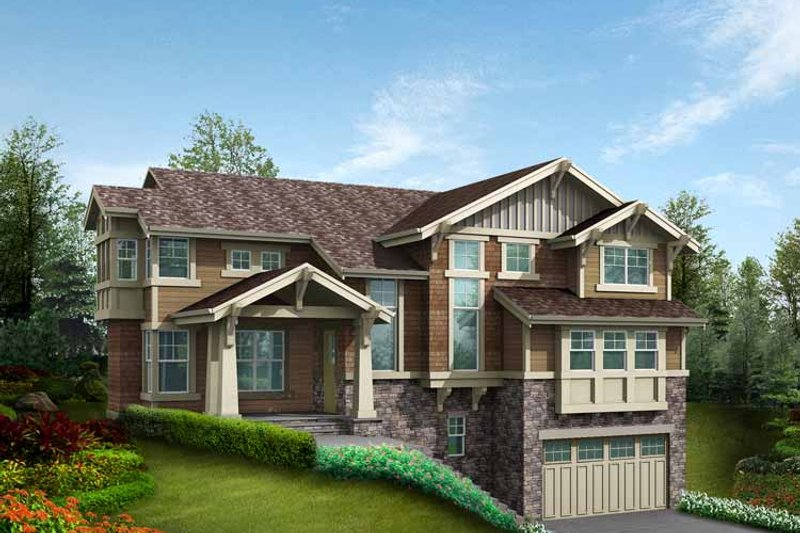 Craftsman Exterior - Front Elevation Plan #132-466 - Houseplans.com