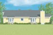 House Blueprint - Ranch Exterior - Other Elevation Plan #72-1097