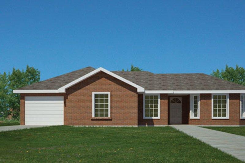 Ranch Exterior - Front Elevation Plan #1061-32 - Houseplans.com